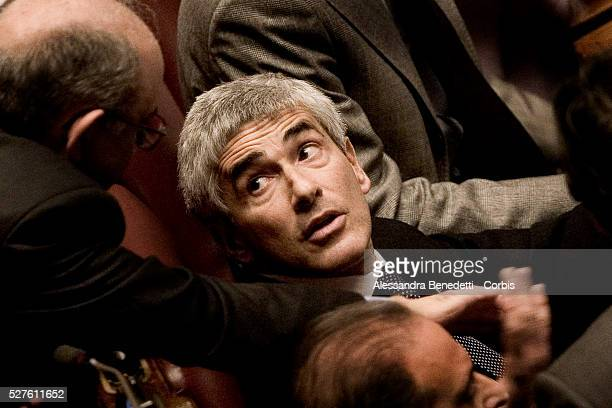 Member of opposition Pierferdinando Casini during a confidence vote session at the lower house of the parliament in Rome Italian Prime Minister...