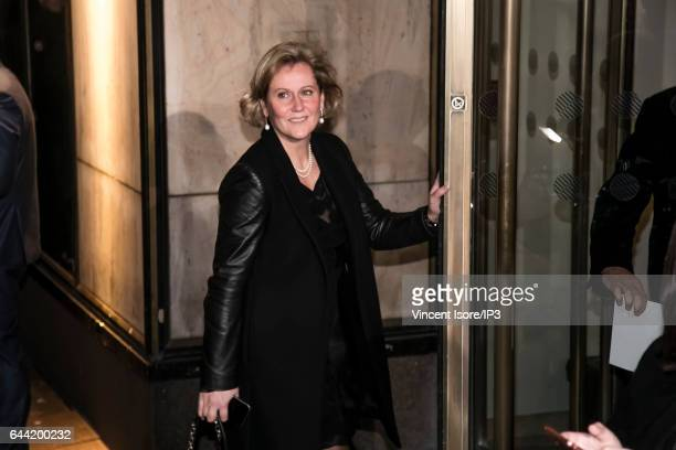 Member of Parliament and member of Les Republicains right wing Party Nadine Morano attends the traditional dinner of the Crif the representative...