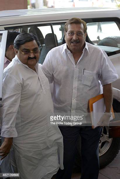 Member of Parliament Vinod Khanna at Parliament house during the budget session