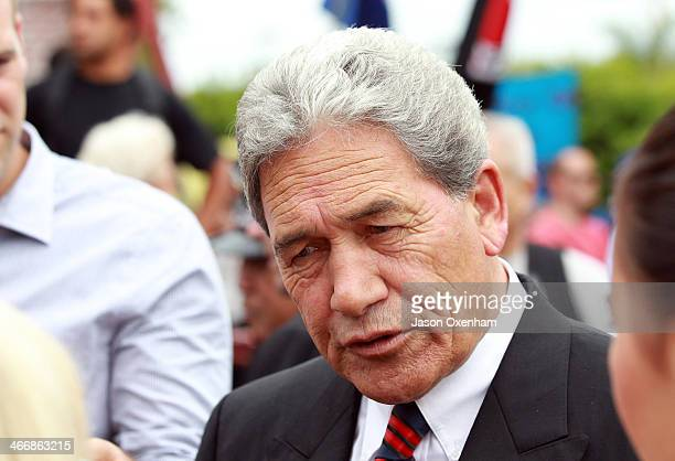 Member of Parliament Winston Peters at the Te Tii Marae on February 5 2014 in Paihia New Zealand The Waitangi Day national holiday celebrates the...