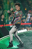 Member of South Korean boy band B1A4 performs onstage during the Mnet M CountDown 10th Anniversary on July 24 2014 in Ilsan South Korea