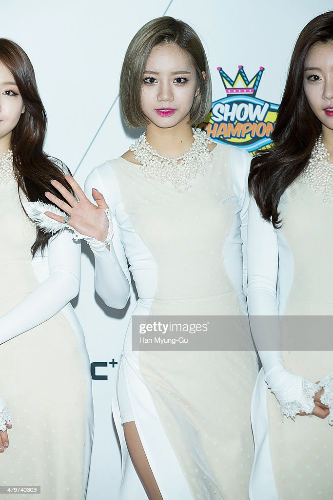 Member of South Korean girl group Girl's Day (Girls Day) attends MBC Music 'Show Champion' on March 19, 2014 in Ilsan, South Korea.