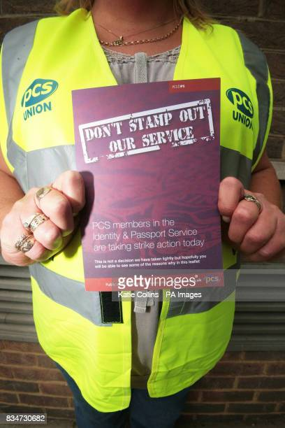 A member of staff from the passport office outside the London Victoria branch A threeday strike has started today that could hit holidaymakers...