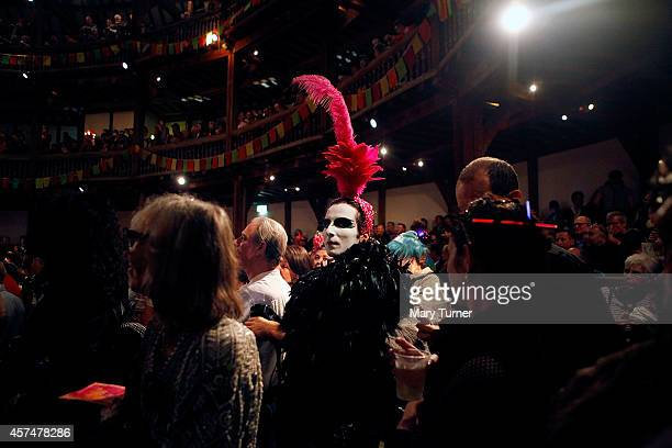 A member of the audience pictured at the Alternative Miss World contest at the Globe Theatre on October 18 2014 in London England The event first...