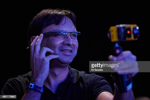 A member of the audience wearing Google Glass films the QA as Shuhei Yoshida President of Sony's Worldwide Studios SCE looks back at the launch of...