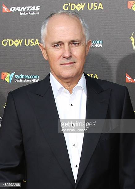 Member of the Australian Parliament Malcolm Turnbull attends the 2015 G'Day USA GALA featuring the AACTA International Awards presented by QANTAS at...