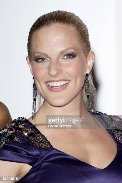 Member of the band 'No Angels' singer Sandy Moelling presents their new album 'Welcome to the dance' at Astor Film Lounge on July 15 2009 in Berlin...