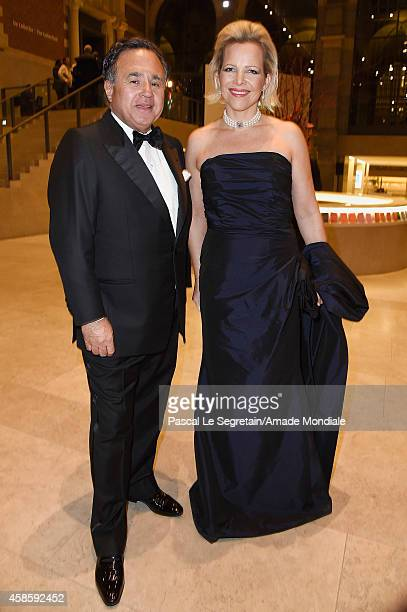 Member of the Board of Directors of the AMADE MONDIALE association Pieter Bogaardt and Valerie MeijerAlbada Jelgersma attend the Amsterdam AMADE Gala...