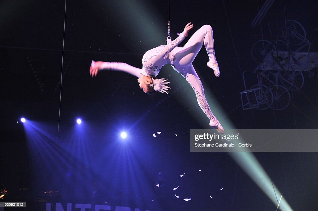 A member of the Chinese troup 'Flag Circus of Jiangxi' performs during the opening ceremony of the Monte-Carlo 35th International Circus Festival 2011, in Monaco.