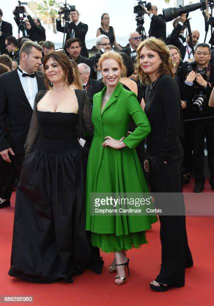 Member of the Feature Film jury Agnes Jaoui actor and member of the Feature Film jury Jessica Chastain and member of the Feature Film jury Maren Ade...