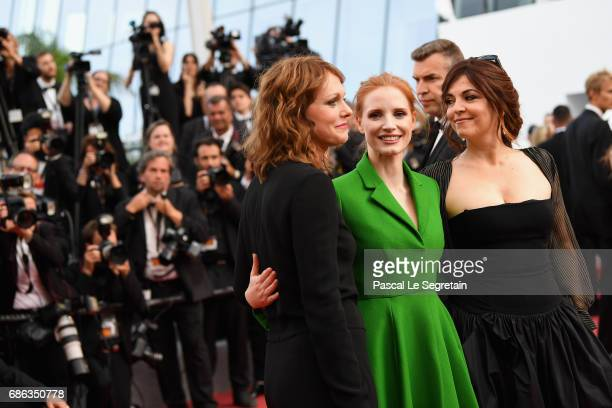 Member of the Feature Film jury Agnes Jaoui actress and member of the Feature Film jury Jessica Chastain and member of the Feature Film jury Maren...