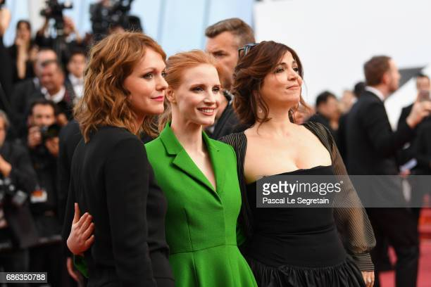 Member of the Feature Film jury Agnes Jaoui actress and member of the Feature Film jury Jessica Chastain and member of the Feature Film jury Maren...