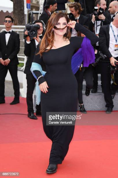Member of the Feature Film jury Agnes Jaoui attends 'Amant Double ' Red Carpet Arrivals during the 70th annual Cannes Film Festival at Palais des...