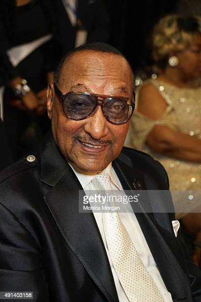 Member of 'The Four Tops' Abdul Fakir attends the 2015 RB Music Hall Of Fame at The Wright Museum on October 4 2015 in Detroit Michigan
