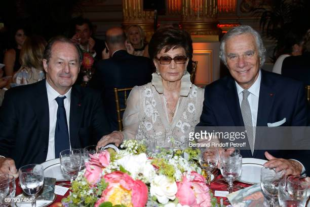 Member of the 'French Academy' JeanMarie Rouart Countess Jacqueline de Ribes and JeanGabriel Mitterrand attend the 'Societe ses Amis du Musee...