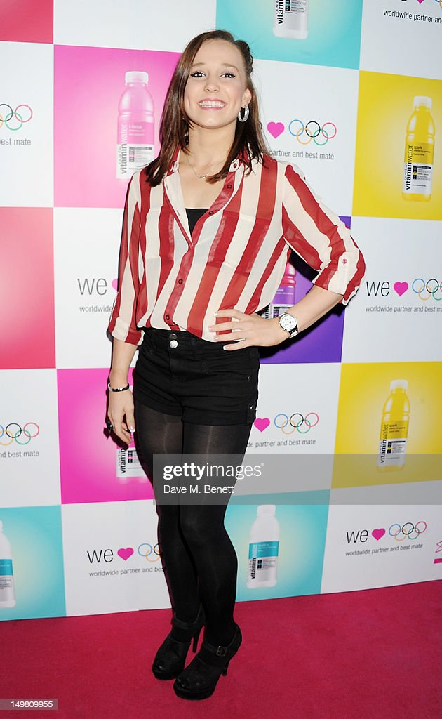 Member of the Great Britain Gymnastics Team Hannah Whelan arrives as Glaceau vitaminwater presents 'Jessie J Live In London' at The Roundhouse on August 4, 2012 in London, England.
