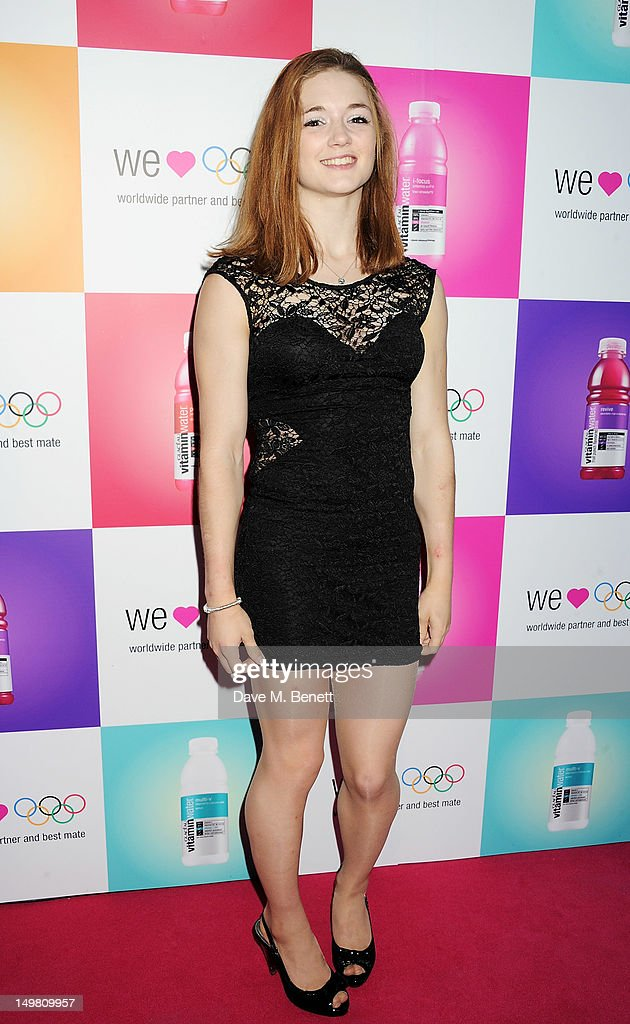 Member of the Great Britain Gymnastics Team Jennifer Pinches arrives as Glaceau vitaminwater presents 'Jessie J Live In London' at The Roundhouse on August 4, 2012 in London, England.