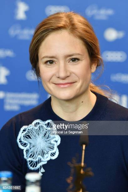 Member of the International jury of the Berlinale film festival actress Julia Jentsch attends the International Jury press conference during the 67th...