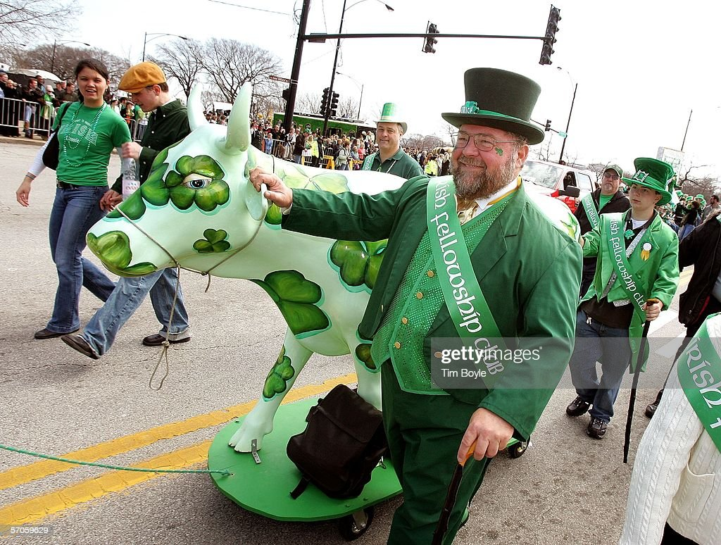 chicago goes green for annual st patricks day parade photos and