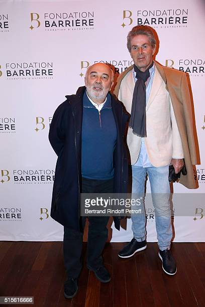 Member of the Jury Actor Gerard Jugnot and CEO of Lucien Barriere Group Dominique Desseigne attend the Premiere of 'Five' Laureat Du Prix Cinema 2016...