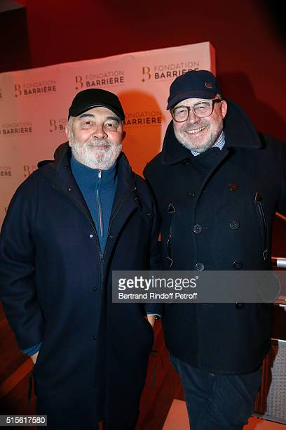 Member of the Jury Actor Gerard Jugnot and Dominique Segall attend the Premiere of 'Five' Laureat Du Prix Cinema 2016 Fondation Diane And Lucien...