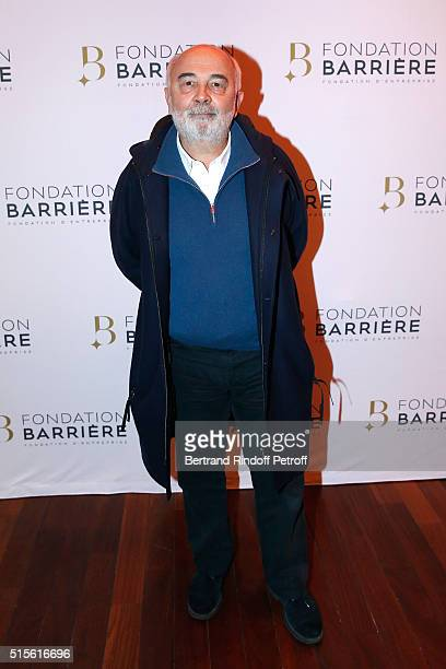 Member of the Jury Actor Gerard Jugnot attends the Premiere of 'Five' Laureat Du Prix Cinema 2016 Fondation Diane And Lucien Barriere Held at Cinema...