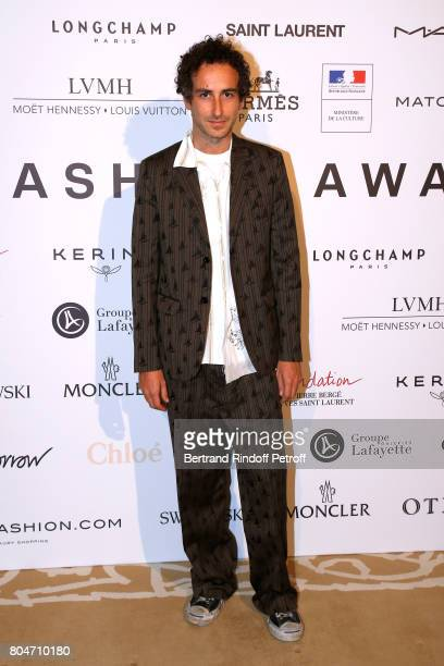 Member of the Jury Marni's New Creative Director Francesco Risso attends the ANDAM 2017 Prize Winner Cocktail at Ministere de la Culture on June 30...