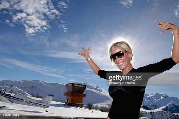 Member of the jury Ophelie Winter poses at the Film Festival Of L'Alpe D'Huez on January 18 2008 in l'Alpe d'Huez France