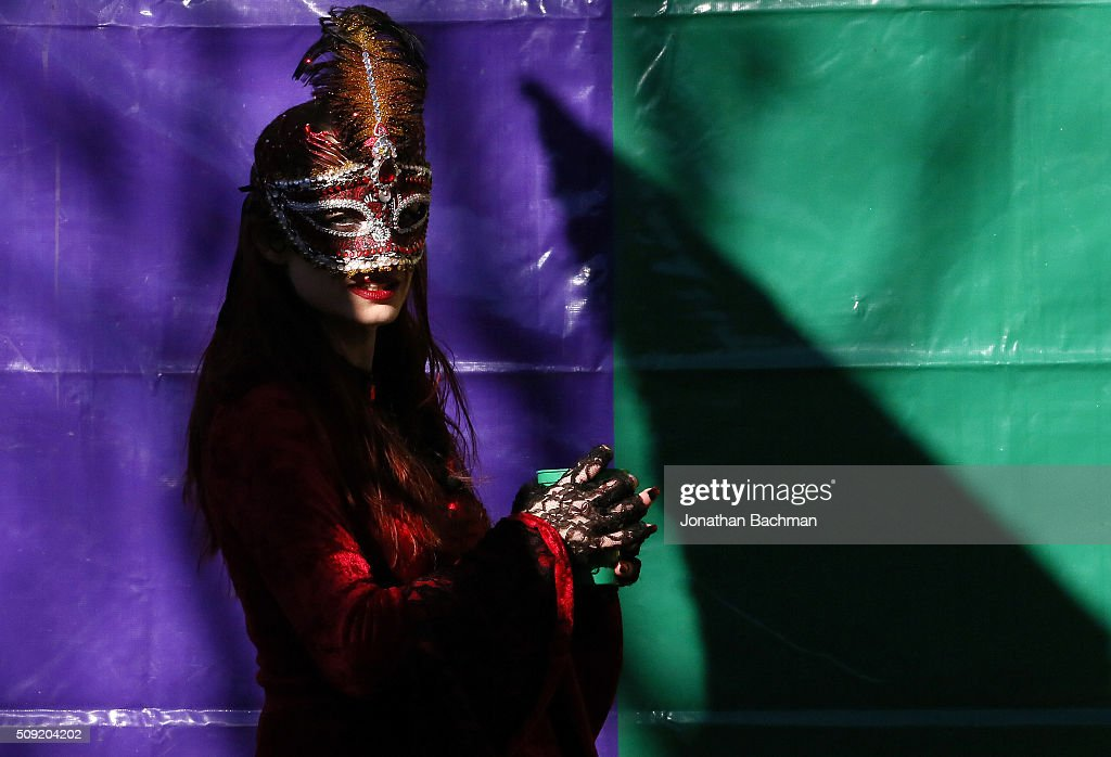 A member of the Mondo Kayo Social and Marching Club parades down St. Charles Avenue during Mardi Gras day on February 9, 2016 in New Orleans, Louisiana. Fat Tuesday, or Mardi Gras in French, is a celebration traditionally held before the observance of Ash Wednesday and the beginning of the Christian Lenten season.