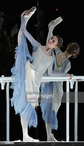 Member of the Moscow Bolshoi Theater Cinderella Ballet Svetlana Zakharova performs in the role of Cindarella at the Royal Opera House in Covent...