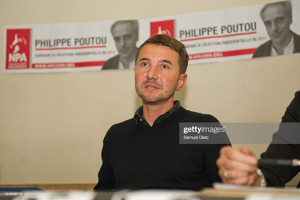 Member of the Nouveau Parti Anticapitaliste (NPA) Olivier Besancenot attends a press conference before a meeting at Bourse du Travail on November 24, 2011 in Saint-Denis, France. The meeting was held as part of Poutou's campaign for the upcoming French Presidential election that will take place in May 2012.