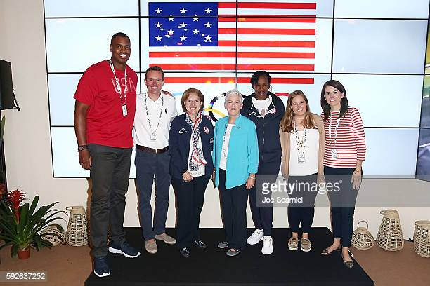 Member of the President's Council on Fitness Sports and Nutrition Jason Collins Secretary of the Army Eric Fanning Ambassador Liliana Ayalde US...