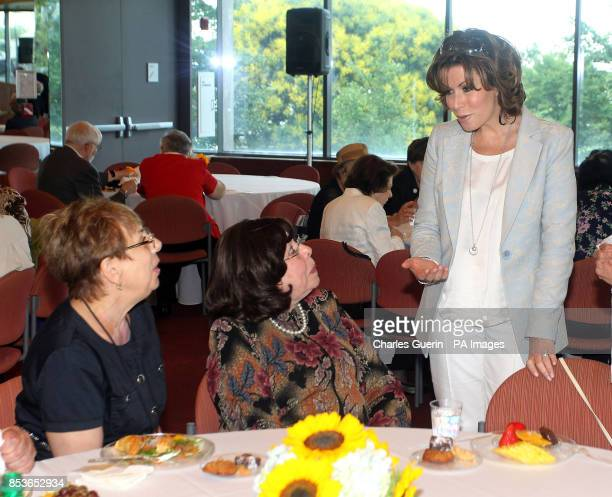 Member of the Prime Minister's Holocaust Commission Natasha Kaplinsky during a visit to The Museum of Jewish Heritage in New York USA
