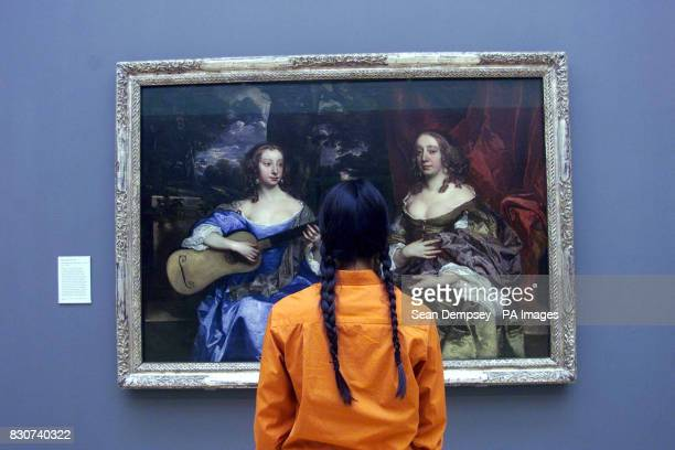 A member of the public takes a look at Ladies of the Lake by Peter Lely's at the Tate Britain's new 32 million Centenary Development *The project...