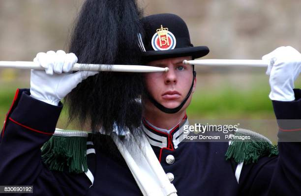A Member of The Royal Norwegian Guard on parade at Edinburgh Zoo in honour of King Penguin Nils Olav * The twoyearold arctic bird paraded his badge...