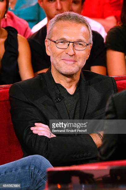 Member of the TV show 'On est pas couche' Laurent Ruquier attends the 'Vivement Dimanche' French TV Show at Pavillon Gabriel on September 3 2014 in...