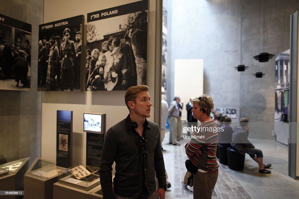 A member of the U21 Germany football team is seen during the visit of Yad Vashem on March 25, 2013 in Jerusalem, Israel. Yad Vashem is Israel's official memorial to the Jewish victims of the Holocaust.