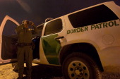 GONZALEZA member of the US Customs and Border Protection searches for illegal inmigrants in El Paso Texas on April 6 2011 as security in the border...