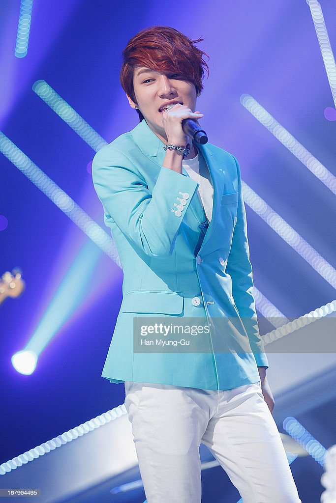 Member South Korean boy band Dickpunks performs onstage during the Mnet 'M CountDown' at CJ E&M Center on May 02, 2013 in Seoul, South Korea.