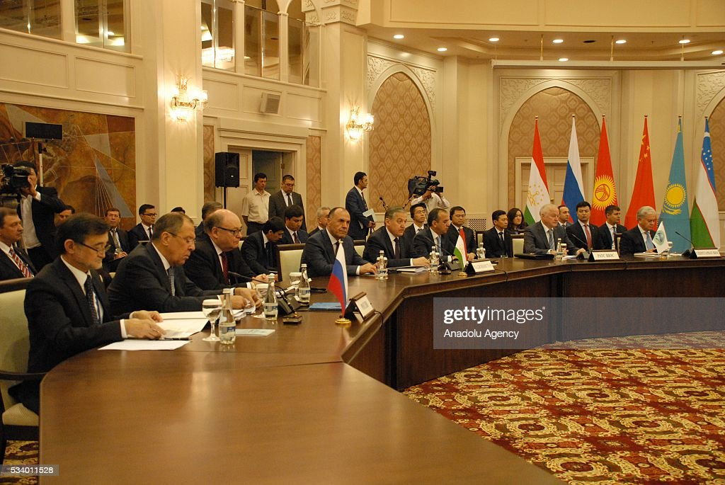 Member State Foreign Ministers of Shanghai Cooperation Organization (SCO) meeting is held in Tashkent, Uzbekistan on May 24, 2016.