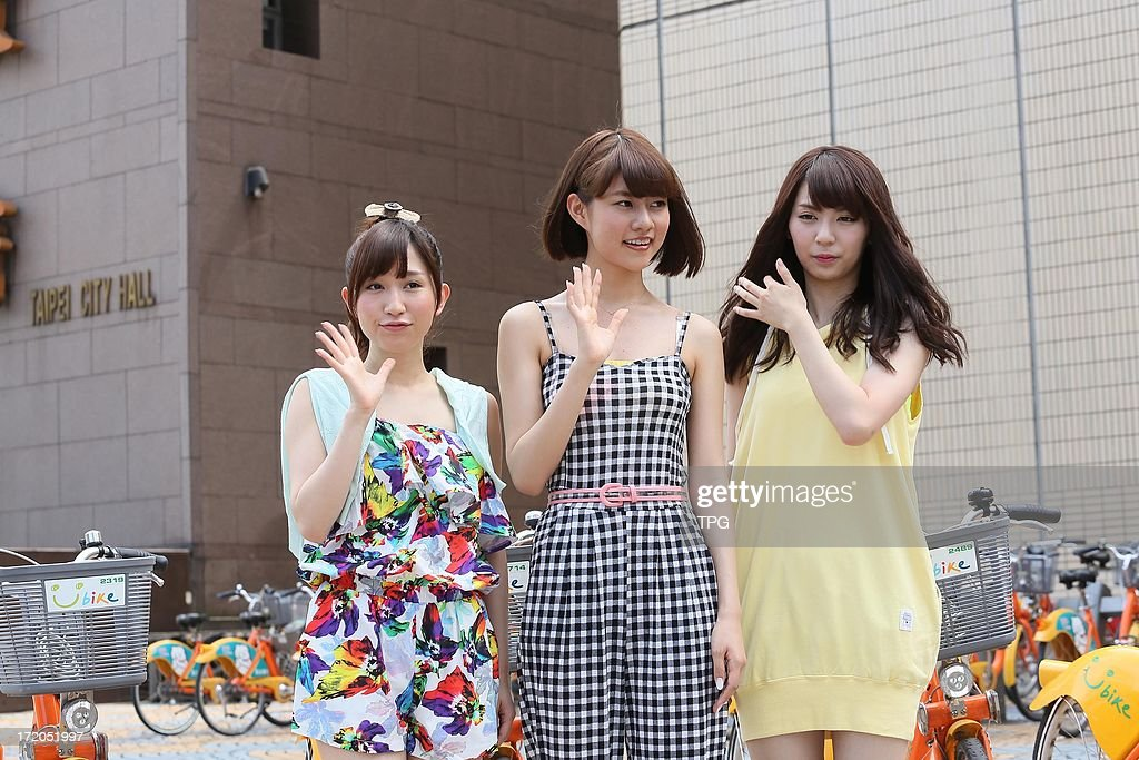 AKB48 members at 101 tourist spots of Taipei promoting activity on Monday July 01,2013 in Taipei Taiwan,China.