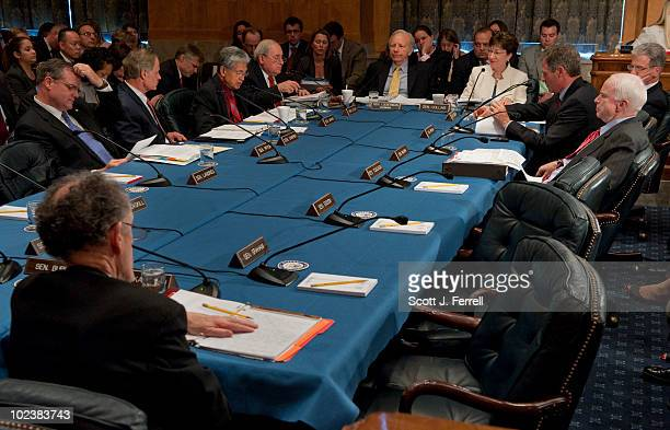Members during the Senate Homeland Security and Governmental Affairs markup of S 3480 the 'Protecting Cyberspace as a National Asset Act of 2010' and...