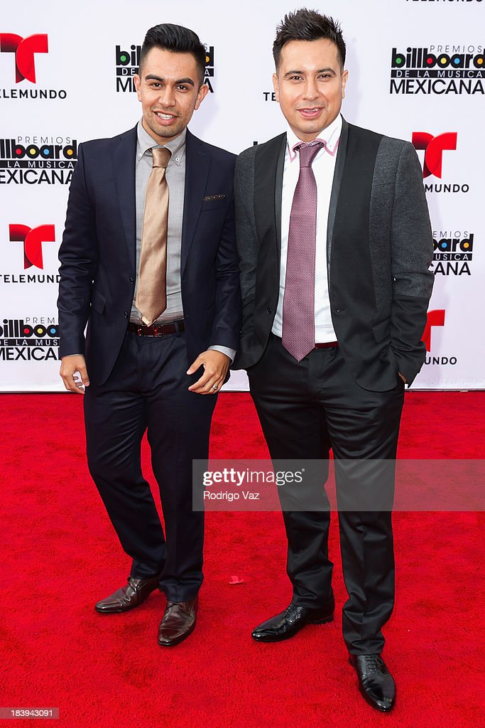 Members fof the band Raul y Mexia attend the 2013 Billboard Mexican Music Awards arrivals at Dolby Theatre on October 9, 2013 in Hollywood, California.