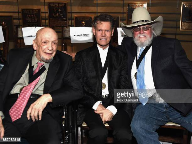 HOF members Fred Foster Randy Travis and Charlie Daniels attend the Country Music Hall Of Fame And Museum Hosts Medallion Ceremony To Celebrate 2017...