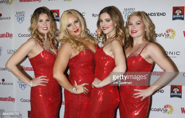 Members from the Bella Electric Strings attend the 14th annual Woman's Day Red Dress Awards at Jazz at Lincoln Center on February 7 2017 in New York...