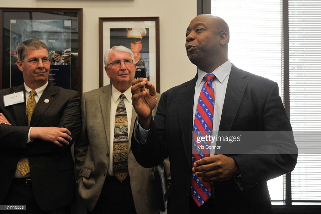 NAMM members meet with Sen. Tim Scott and his staff in the Hart Senate Office Building as part of 'Music Industry Leaders And Artists Drum Up Support For Music Education On Capitol Hill' event as part of Namm's D.C. Fly-in on May 20, 2015 in Washington, DC.