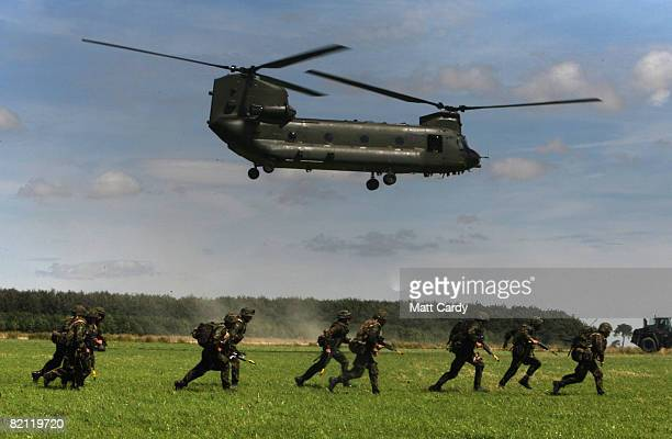 Members of 3 Commando take part in a predeployment exercise on Salisbury Plain on July 30 2008 in Wiltshire England For the past weekandahalf the...