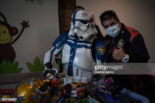 Members of 501st Legion Colombia Outpost visit FCI hospital in Bogota Colombia on September 03 2017 Members of the of 501st Legion Colombia Outpost...