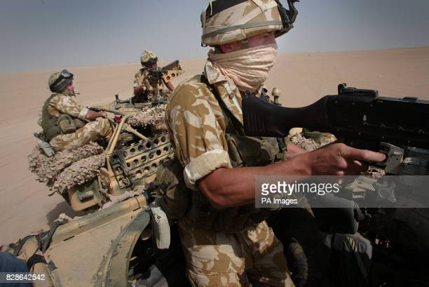 Members of a Brigade Patrol Troop part of the Brigade Recce Force who are an elite team within the Marine Commando Brigade out in the northern...