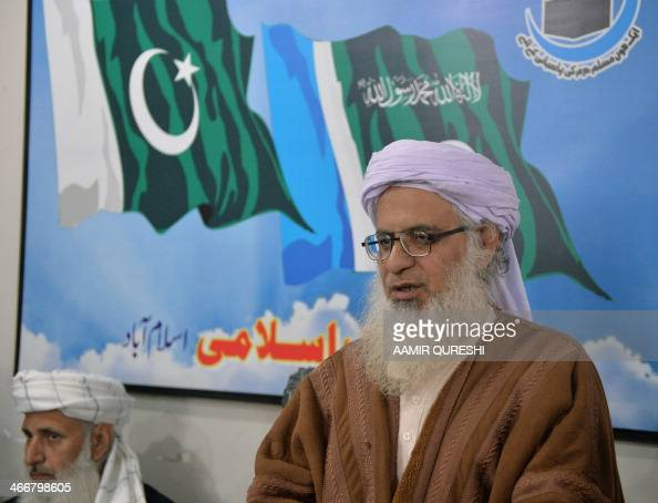 Members of a committee from TehreekeTaliban Pakistan which was set up to hold talks with the government of Pakistan chief cleric of Islamabad's Red...